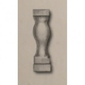 Amati 4031.15 Stöttor, halv, ljust trä, 15 mm, 100 st
