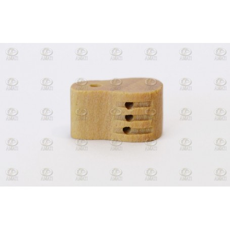Amati 4085.10 Fiolblock, trippelt, ljust trä, 10 mm, 10 st