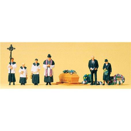 Preiser 10520 Begravning, katolsk, 6 figurer med tillbehör