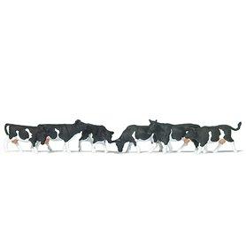 Preiser 79228 Kossor, svart|vita, 6 st