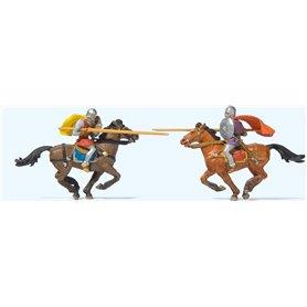 Preiser 24763 Riddare med hästar, 2 st