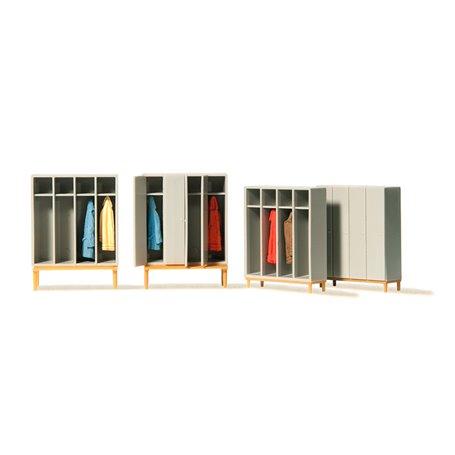 Preiser 17188 Garderober|Skåp för omklädningsrum, 4 st