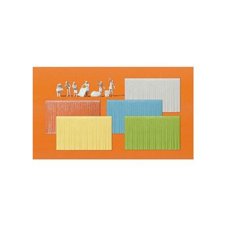 Preiser 16360 I fönstret, 6 omålade figurer och 16 gardiner (5 olika färger)