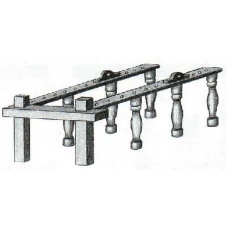 Amati 4107.15 Nagelbänk, metall, 30 x 23 x 12 mm, 1 st