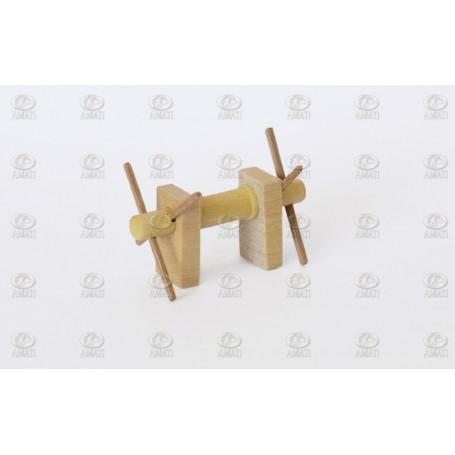 Amati 4115.02 Vindspel, horisontalt, trä, längd 30 mm, 1 st