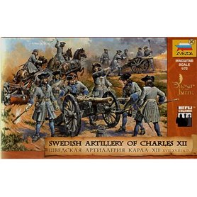 Zvezda 8066 Figurer Swedish Artillery of Charles XII