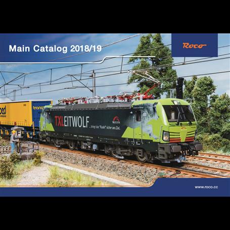 Roco 80218 Roco huvudkatalog 2018/2019 Engelska, 258 sidor i färg