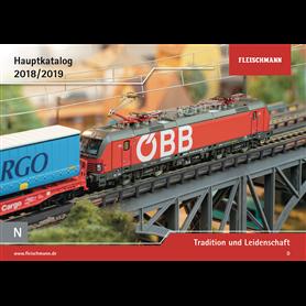 Fleischmann 990118 Fleischmann huvudkatalog N 1:160 2018/2019 Tyska, 131 sidor i färg