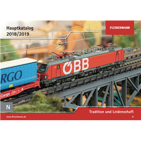 Fleischmann 990218 Fleischmann huvudkatalog N 1:160 2018/2019 Engelska, 131 sidor i färg
