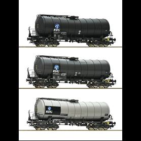 """Roco 76156 Vagnsset med 3 tankvagnar """"VTG"""" typ DB AG"""