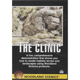 """Woodland Scenics R970 DVD """"The Clinic"""" Lär dig bygga landskap m.m."""