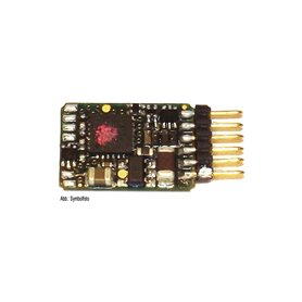 Fleischmann 685305 6-pin decoder, straight pins (NEM 651)