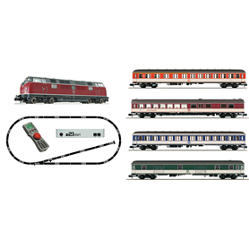 "Fleischmann 931881 z21®start Digital starter set: Locomotive class 221 and express train (""Popfarben""), DB"