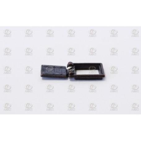 Amati 4132.07 Kanonport med ram, metall, mått 7 x 7 mm, 10 st