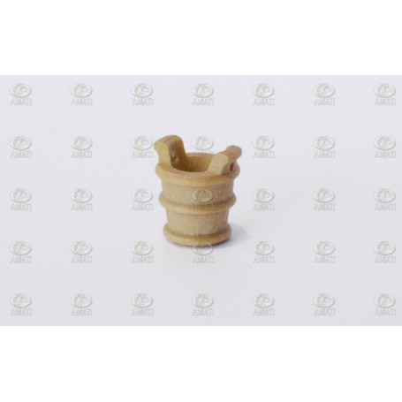 Amati 4145.09 Hink utan handtag, ljust trä, höjd 9 mm, 10 st