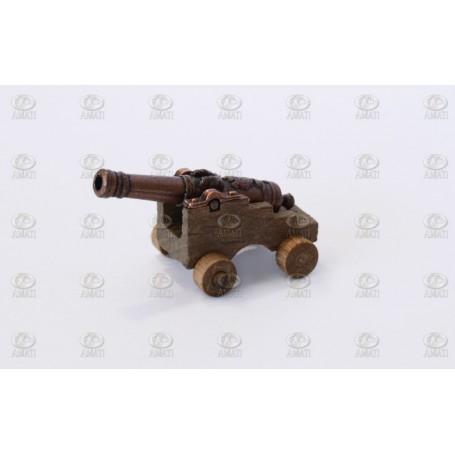 Amati 4159.50 Kanon med lavett i trä, kanon i metall, längd 50 mm, 1 st
