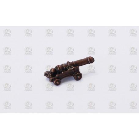 Amati 4160.15 Dekorerad kanon med lavett i metall, kanon i metall, längd 15 mm, 10 st