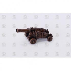 Amati 4160.20 Dekorerad kanon med lavett i metall, kanon i metall, längd 20 mm, 1 st