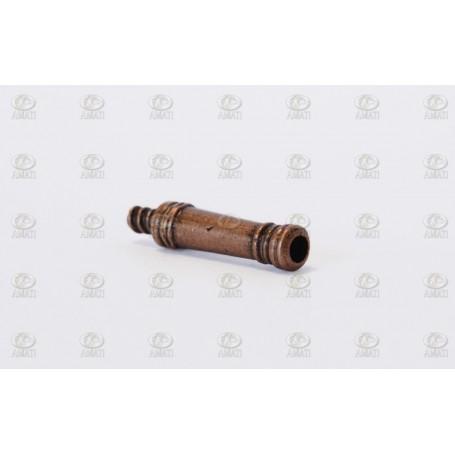 Amati 4172.21 Kanonrör typ dummy, dekorerad, metall, längd 21 mm, 10 st