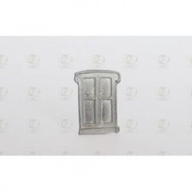 Amati 4250.03 Dörr, äldre stil, metall, mått 25 x 16 mm, 10 st
