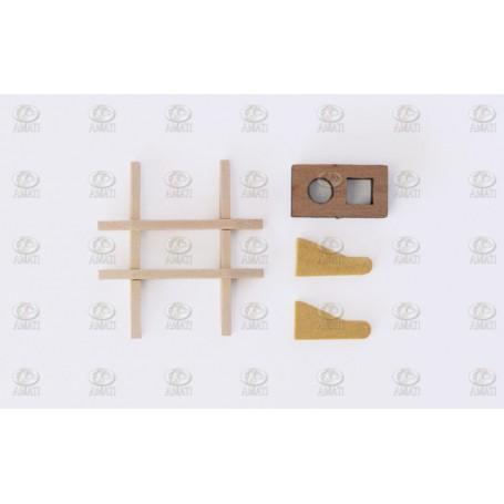 Amati 4296.02 Salning, brittisk typ, trä, mått 25 x 27 mm, 1 st