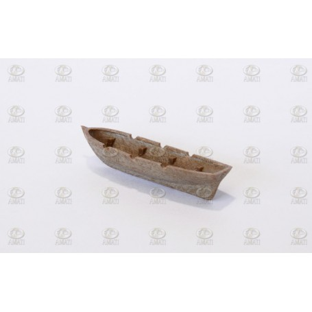 Amati 4305.05 Livbåt, plast, träimitation, längd 50 mm, 10 st