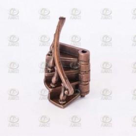 Amati 4324.01 Trappa, metall, högersväng, med handräcke, 1 st