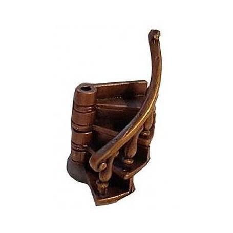 Amati 4324.02 Trappa, metall, vänstersväng, med handräcke, 1 st