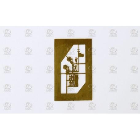 Amati 4346 Vindflöjel, metall, höjd 22 mm, 1 st