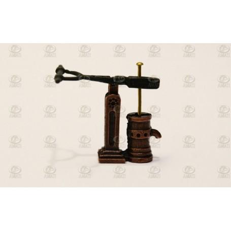 Amati 4355.04 Länspump, enkel, metall, höjd 11 mm, 1 st