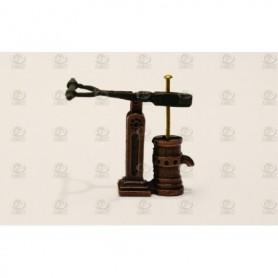 Amati 4355.05 Länspump, enkel, metall, höjd 18 mm, 1 st