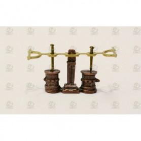 Amati 4355.08 Länspump, dubbel, metall, höjd 11 mm, 1 st