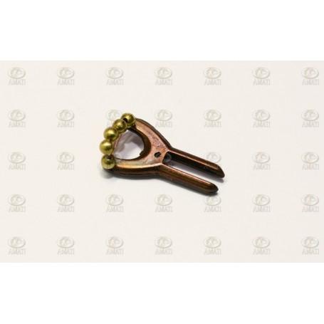 Amati 4383.06 Metallgaffel, längd 20 mm, 1 st