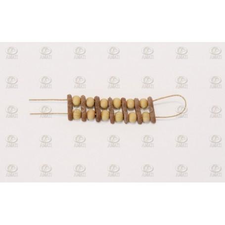 Amati 4384.06 Rackklot på racksläde, höjd 6 mm, 1 set