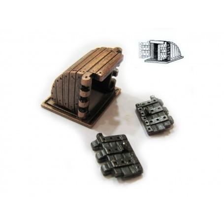 Amati 4396 Däckslucka, med dörrar, metall, mått 20 x 20 x 17 mm, 1 st