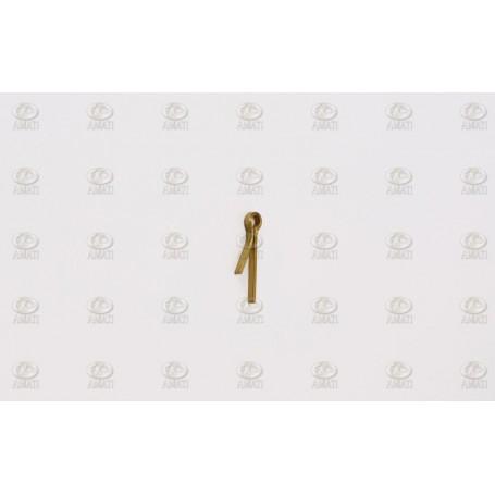Amati 4702 Öglebult, med 2 ben, mässing, mått 0.7 x 10 mm, 100 st