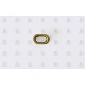 Amati 4947-02 Porthål, oval, metall, mått 13 x 8 mm, 100 st