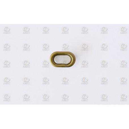 Amati 4947.02 Porthål, oval, metall, mått 13 x 8 mm, 10 st