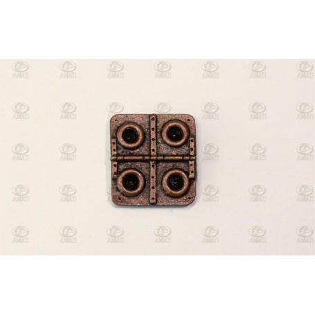 Amati 4948.16 Taklucka, metall, mått 15 x 16 mm, 2 st