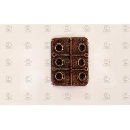 Amati 4948.24 Taklucka, metall, mått 19 x 24 mm, 2 st