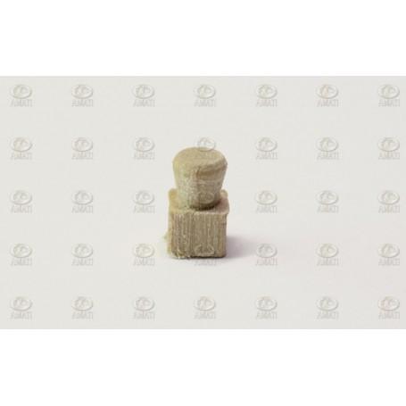 Amati 4910.09 Pollare, trä, höjd 9 mm, 10 st