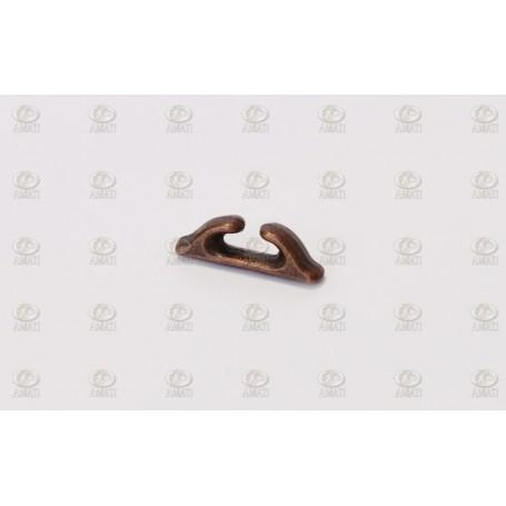Amati 4920.09 Halkip, metall, brunierad, längd 9 mm, 10 st