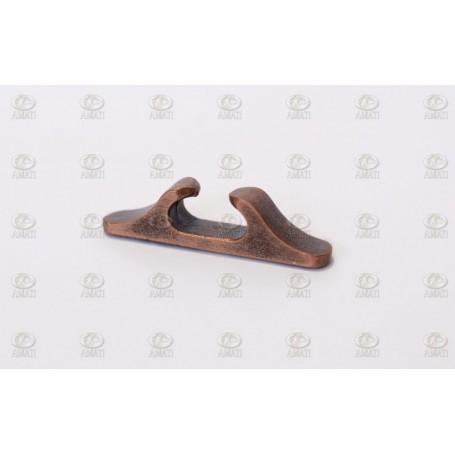 Amati 4922.27 Halkip, metall, brunierad, längd 27 mm, 10 st