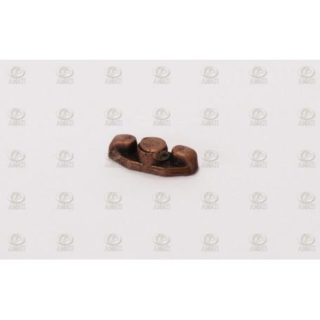 Amati 4923.07 Halkip, platt, metall, brunierad, längd 7 mm, 10 st