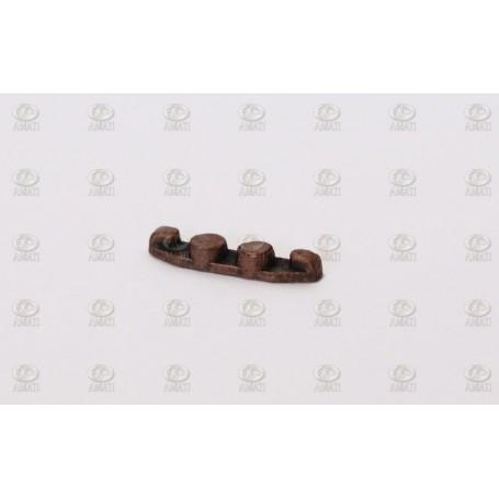 Amati 4923.12 Halkip, platt, metall, brunierad, längd 12 mm, 10 st