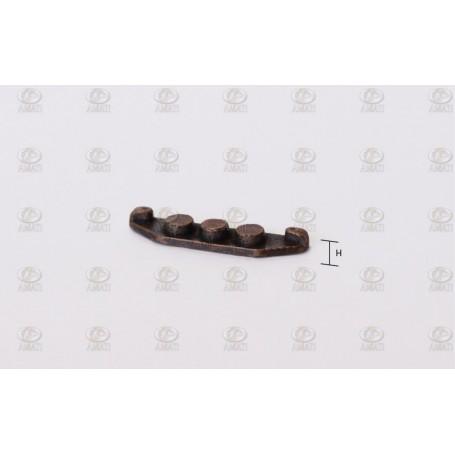 Amati 4923.16 Halkip, platt, metall, brunierad, längd 16 mm, 10 st
