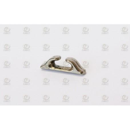 Amati 4925.09 Halkip, krompläterad metall, längd 9 mm, 10 st