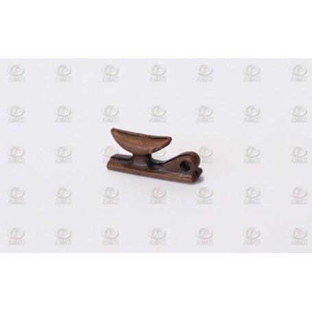 Amati 4936 Knap med hål, metall, längd 10 mm, 10 st