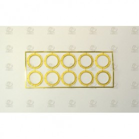 Amati 4940.15 Porthål, metall, med glas, diameter 15 mm, 10 st