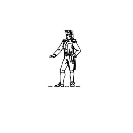 Amati 8000 Figur, sjöman, omålad, metall, höjd 22 mm, 1 st
